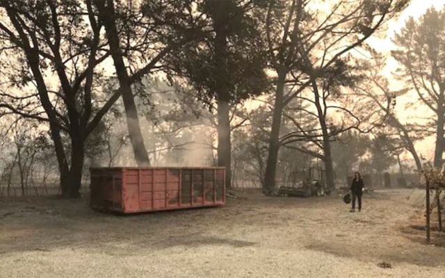 The scene last week at Hagafen Cellars in the aftermath of fires raging in Northern California. Courtesy of Hagafen Cellars