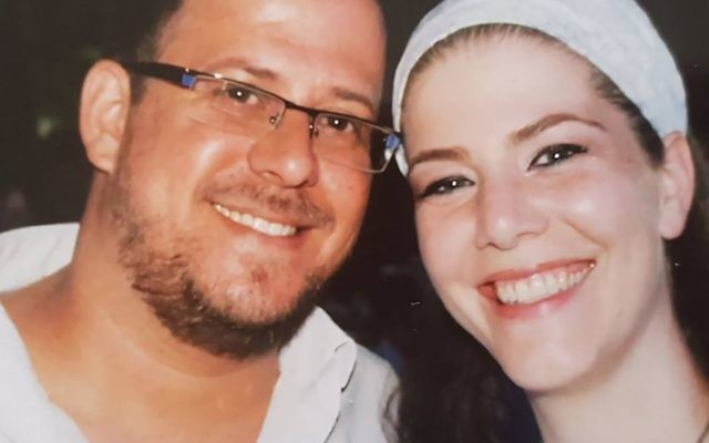 """""""He left me five gifts,"""" Michal Salomon said of her slain husband. """"I see Elad in each of them."""" Courtesy of Salomon family"""