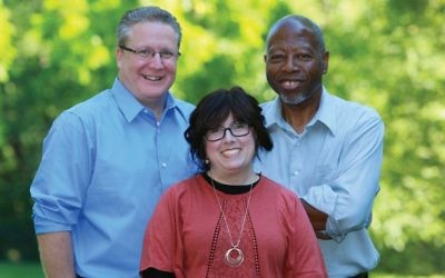 From left, Bill Weber, Shani Bechhofer and Grant Valentine of the New Direction for Ramapo slate.  Courtesy of A New Direction for Ramapo