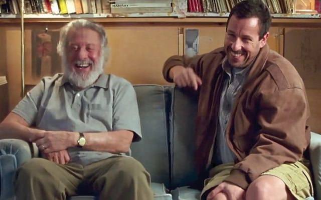 "Dustin Hoffman and Adam Sandler in ""The Meyerowitz Stories (New and Selected).""  Via YouTube"
