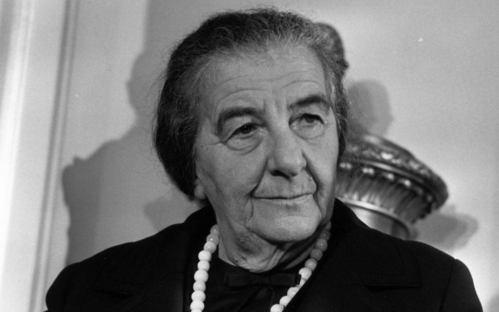 5th November 1970: Israeli Prime Minister Golda Meir (Golda Mabovich, 1898 - 1978) at a London Press Conference. Getty Images