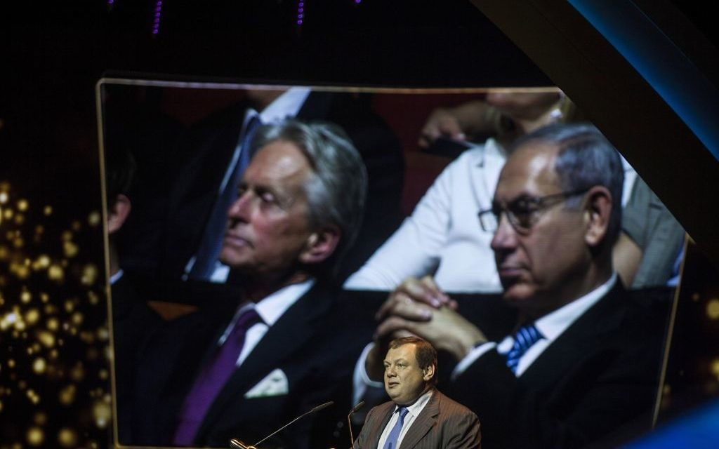 Mikhail Fridman gives a speech during Genesis Prize ceremony at The Jerusalem Theater on June 18, 2015 in Jerusalem, Israel. Getty Images