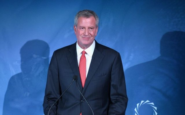 New York City Mayor Bill de Blasio announced his bid for presidency. Getty Images