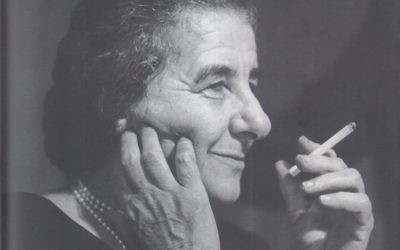 """An evocative image on the cover of Klagsbrun's """"Lioness,"""" a biography of Golda Meir. Courtesy of Schocken"""