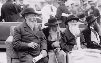 Rabbis at High Commissioners Reception Jerusalem1920 / WikkiCommons