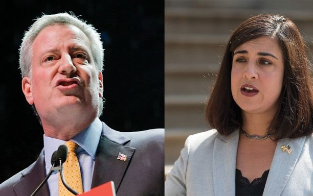 Mayor de Blasio, say some Orthodox Jews, has been sensitive to their needs, despite his progressive label. Getty Images. GOP hopeful Nicole Malliotakis may not pull in as many Orthodox Jews as did Donald Trump. Getty Images