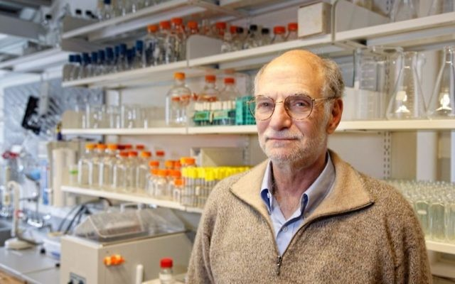 Brandeis University biology professor Michael Rosbash is one of the winners of the 2017 Nobel Prize for Medicine. JTA