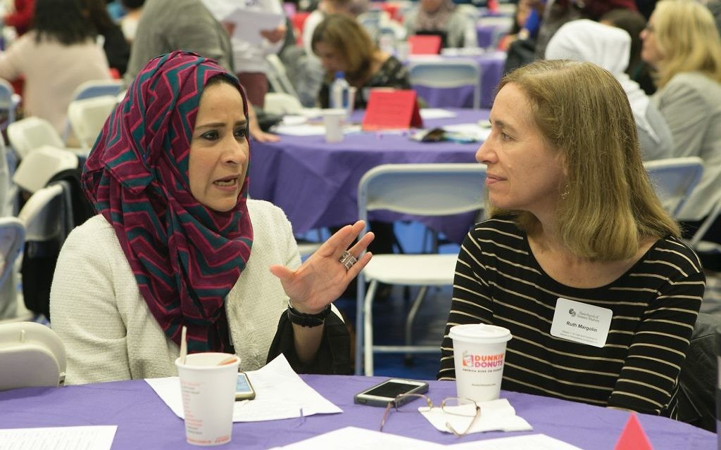 Building bridges at Sisterhood of Salaam Shalom's at their national conference earlier this year. Courtesy of Karen Mancinelli/Drew Univ.