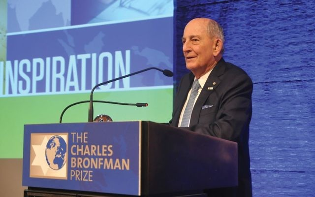 """The prize given by Charles Bronfman, above, rewards """"the greater good.""""  Charles Bronfman Prize"""