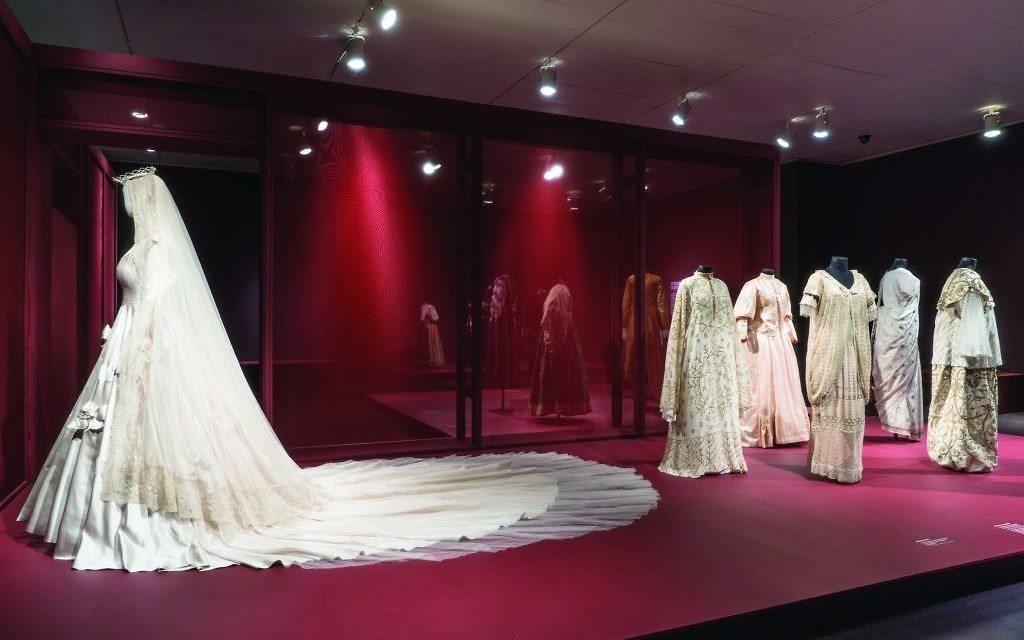 "Garments from the ""Veiled Meanings"" exhibit at The Jewish Museum. Courtesy of Jason Mandella/The Jewish Museum"
