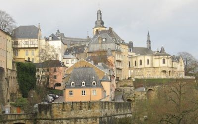 view of Luxembourg City, the hub of modern Jewish life. Photos by Wikimedia Commons