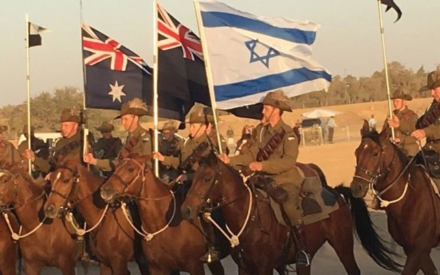 The scene this week in Beersheva at a re-enactment of a decisive World War I battle that paved the way for the nation of Israel.  Nathan Jeffay/JW