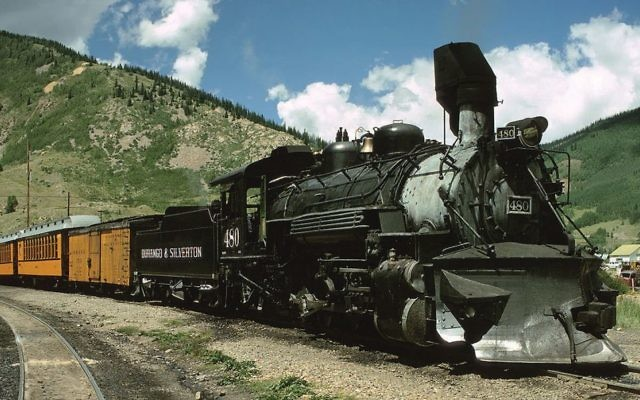 The Durango & Silverton Railroad.