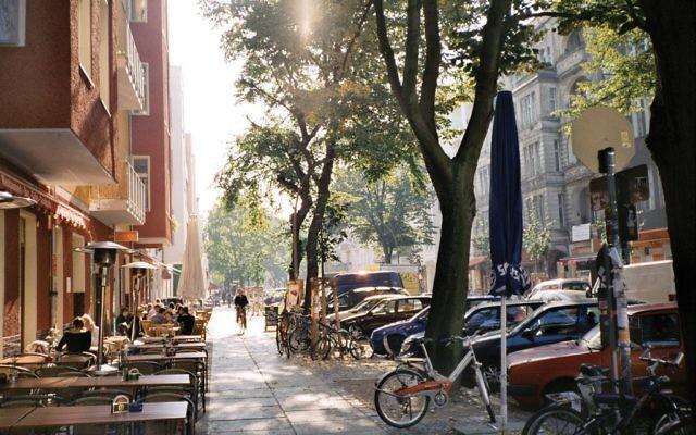 A street in Berlin's Friedrichshain neighborhood.