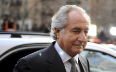 Bernie Madoff arriving at Manhattan Federal court, March 12, 2009. (Stephen Chernin/Getty Images)