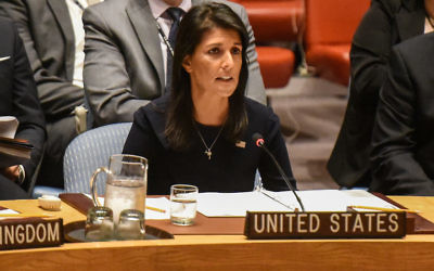NEW YORK, NY - SEPTEMBER 4:  Ambassador to the UN, Nikki Haley, delivers remarks during a United Nations Security Council meeting on North Korea on September 4, 2017 in New York City. The securty council was holding its second emergency meeting in a week after North Korea announced the detonation of what it called an underground  hydrogen bomb September 3.  (Photo by Stephanie Keith/Getty Images)