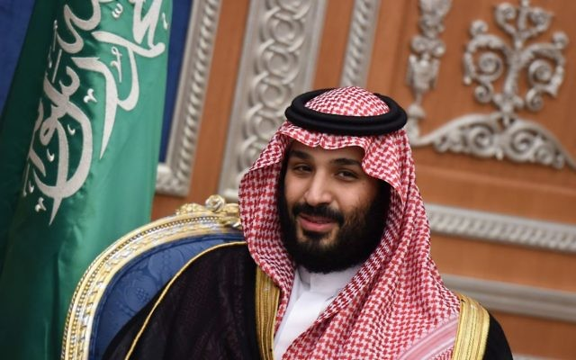 Saudi Crown Prince Mohammed bin Salman attends a meeting with Lebanon's Christian Maronite patriarch on November 14, 2017, in Riyadh. Getty Images
