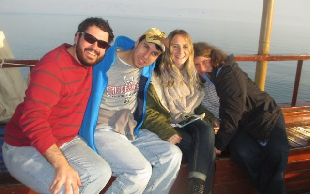 Tikvah Participants on a boat ride on the Kinneret/Sea of Galilee. Courtesy of Howard Blas