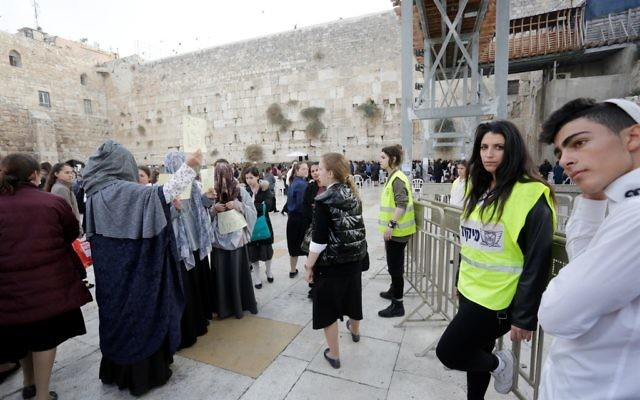 Scenes from a recent scuffle between kotel goers and charedi protestors this month. Courtesy of Hila Shiloni/Women Of The Wall