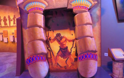 Kids can be Samson bringing down the walls at Courageous Pages, the play area at the new Museum of the Bible in Washington, D.C. (Ron Kampeas)