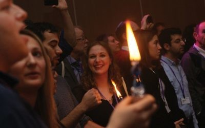 Pre-festival Havdalah: Hundreds of participants at the Limmud Festival took part in the Shabbat and post-Shabbat activities. Courtesy of Bruria Hammer