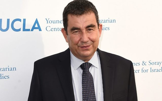 """Ari Shavit, shown in 2015, was a popular draw on the Jewish lecture circuit after the publication of his book """"My Promised Land."""" Getty Images"""