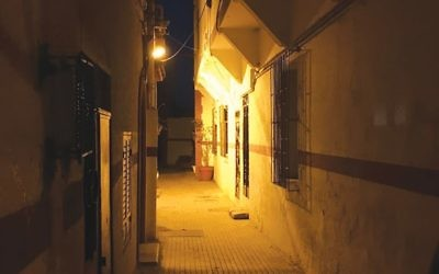 The Jewish quarter in Rabat at night. Photos by Lori Silberman Brauner/JW