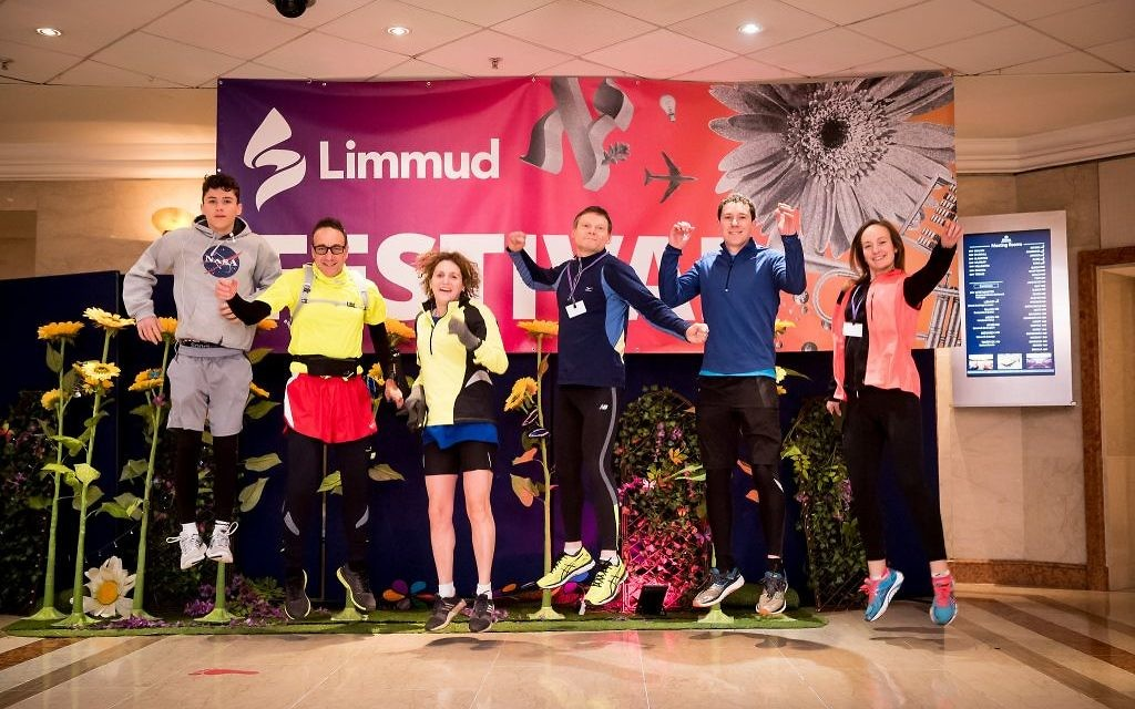 Getting fit at the Limmud Festival in Birmingham, England. Courtesy of Limmud.