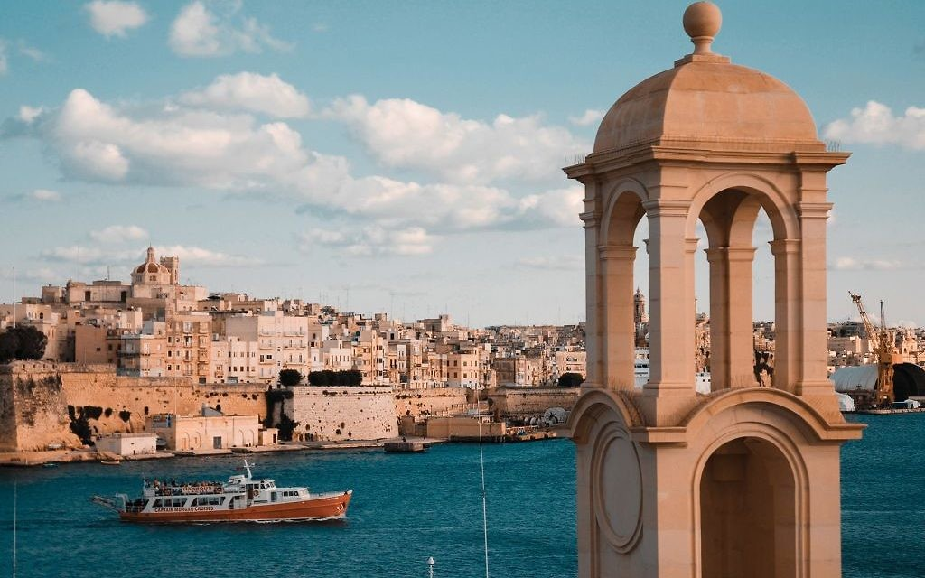 View of the old walled city of Valletta and its harbor. Wikimedia Commons
