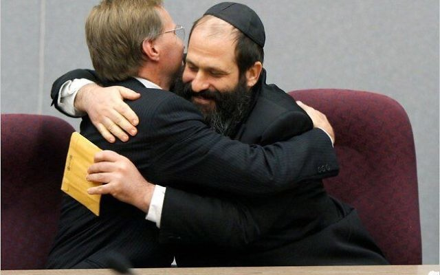 Sholom Rubashkin after receiving notice of his early release. Source Unknown