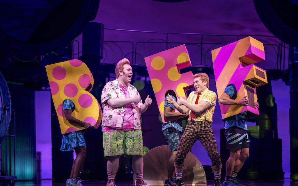 "The company of ""SpongeBob SquarePants: The Broadway Musical."" JTA"