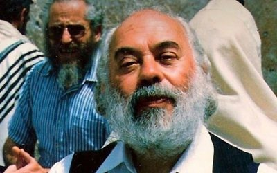 Rabbi Shlomo Carlebach during a visit to the Western Wall in Jerusalem, early 1990s. Shlomo Carlebach Legacy Trust Via Times Of Israel