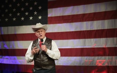 Despite his pro-Israel stance, Republican Jews are unlikely to vote for Senate candidate Roy Moore, says Southern Jewish Life editor Larry Brook. Getty Images
