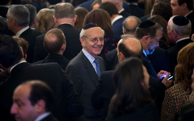 US Supreme Court Justice Stephen Breyer (C) attends a Hanukkah reception hosted by US President Donald Trump in the East Room of the White House in Washington, DC, December 7, 2017. Getty Images
