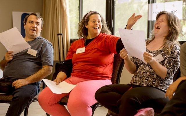 Participants at a Bizchut program. Courtesy of Jennifer Laszlo Mizrahi