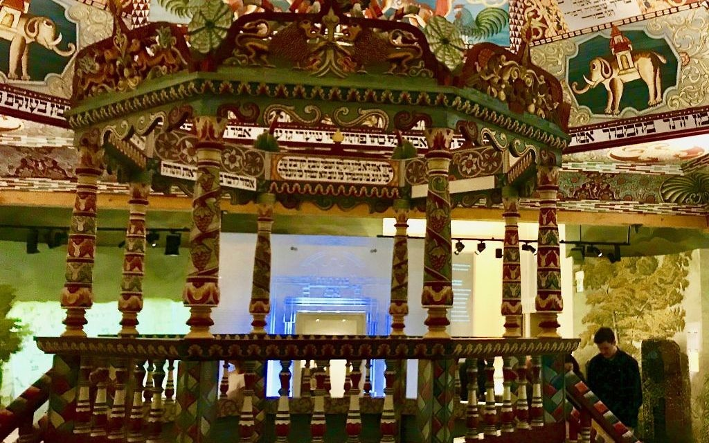 Replica, of the Gwozdziec synagogue at POLIN Jewish History Museum. Courtesy of Harry D. Wall