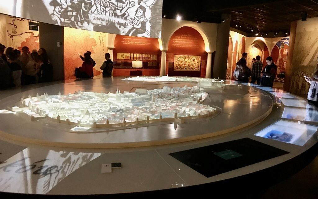 A scale model of Krakow and Kasmariz, at the Museum of Polish Jewish History/ Courtesy of Harry D. Wall