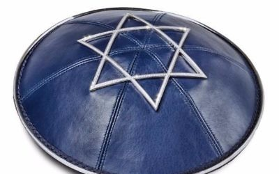 This yarmulke, encrusted with 873 diamonds, offends this writer's sensibilities. via ModernTribe.com