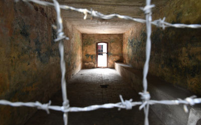 A general view of a gas chamber at the former Stutthof Nazi concentration camp near Gdansk, Poland. JTA