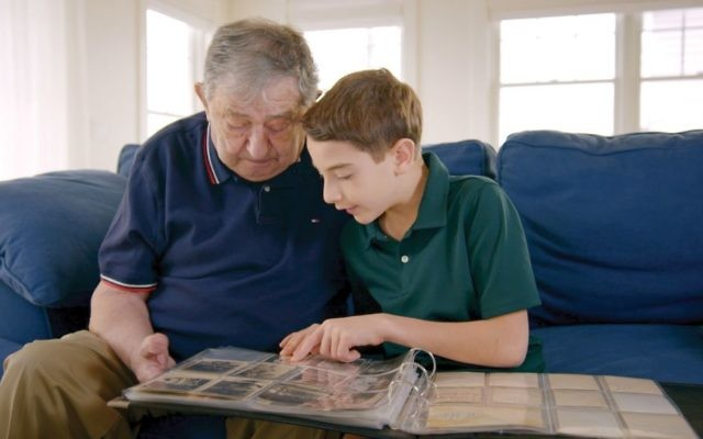 "Jack Feldman and his great-grandson Elliott Saiontz in a scene from ""The Number on Great-Grandpa's Arm."" Courtesy of HBO"