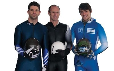 Would-be skeleton Olympians Joel Seligstein, Larry Sidney and A.J. Edelman.  Erin Seligstein