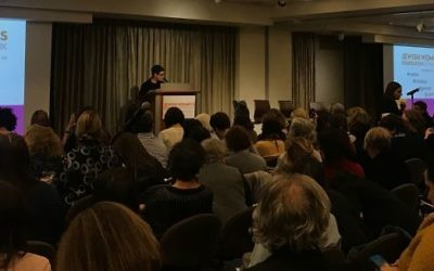 On January 25th, The Jewish Women's Foundation of New York hosted a town hall meeting to address gender abuse and harassment in Jewish communal spaces. The event included community leaders reading testimonies, facilitated discussions with experts, and an opportunity to take individual and collective action. Courtesy of Aimee Rubensteen