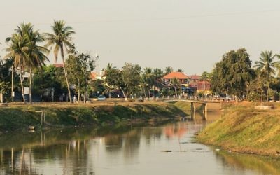 A colonial-era town Siem Reap. Wikimedia Commons