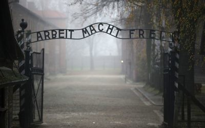 The entrance to Auschwitz. Getty Images
