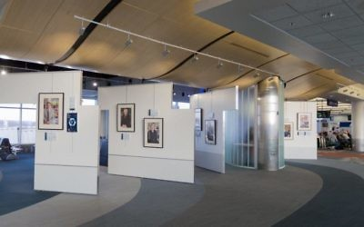 "A view of the ""Transfer of Memory"" exhibit at the Minneapolis-Saint Paul International Airport. JTA"