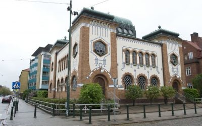 The Malmo Synagogue, built in 1903, is pictured on May 19, 2013 in Malmo. Getty Images