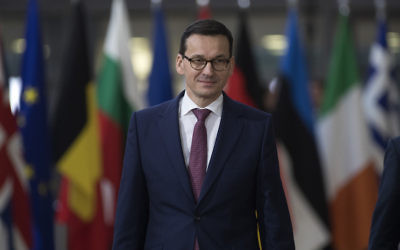 Polish Prime Minister Mateusz Morawiecki at the European Union leaders summit in Brussels, Dec. 14, 2017. Getty Images