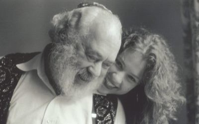 Rabbi Shlomo Carlebach with his daughter Neshama Carlebach.  Via TimesofIsrael.com