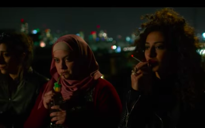 A scene from the movie 'In Between', the new award-winning film about Arab women battling their conservative society. Screenshot/Youtube