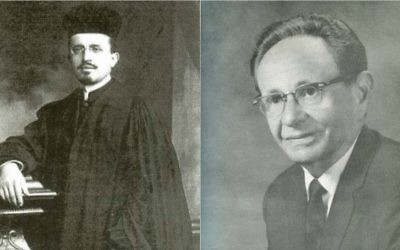 Rabbi Israel Goldfarb (L) and Moshe Nathanson (R), two Jewish music legends are remembered this year. (L) Via Kanestreet.org (R) Flickr CC/Jewish Music Research Centre Jerusalem